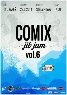 Pozvánka na Comix Jib Jam 25.3. 2014, Žilina