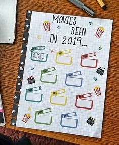 This is not my idea, and for the life of me I can't remember where or who I saw this from. However this concept stuck out to me. To Do Planner, Mini Happy Planner, Planner Layout, Goals Planner, Planner Pages, Life Planner, The Life, Diy Calender, Movie Tracker
