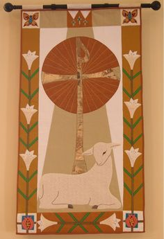Easter processional banner of St. Boniface Episcopal Church, Comfort, TX