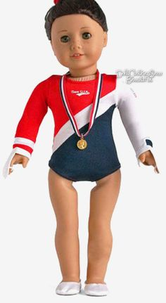 """USA Gymnastics Outfit made for 18"""" American Girl Doll Clothes #Unbranded"""