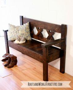 Great Custom Built Rustic Entry Bench Entry Furniture, Furniture Ideas, Furniture  Refinishing, Custom Furniture