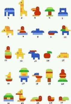Beautiful ideas for Duplo Duplo Lego creative dyslexia dyslexia training dyscalculia dyscalculia training AFS method learning fine motor skills Lego Club, Legos, Lego Duplo Animals, Instructions Lego, Lego Therapy, Mega Blocks, Lego Craft, Lego For Kids, Lego Projects