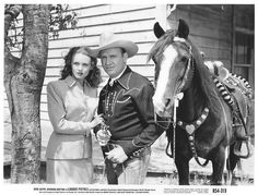Barbara Britton with Gene Autry (Loaded Pistols)