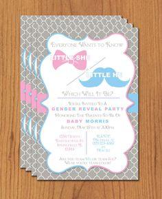 Printable Gender Reveal Invitation - Editable Template - Microsoft ...