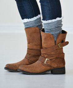 Look at this Gray Felicity Knee-High Socks on #zulily today!