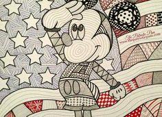 Zentangle Mickey Mouse