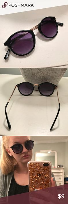 Purple Shades! Love these glasses! Purple lenses black frames - these have no brand on them Francesca's Collections Accessories Sunglasses
