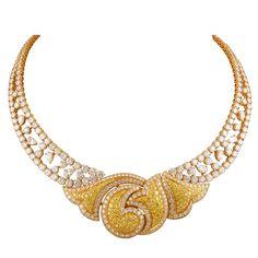 BOUCHERON - 18kt. Gold White & Yellow Diamond Necklace