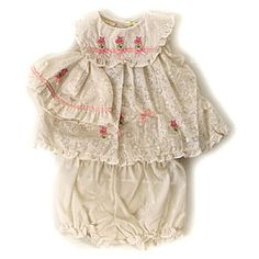 Newborn Girl Embroidered Sundress