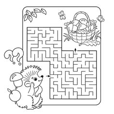 Maze Games For Kids, Activities For Kids, Coloring Book Art, Coloring Pages, Labyrinth Game, Cute Princess, Free Illustrations, Homemade Cards, Preschool