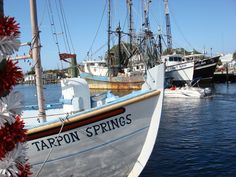 Tarpon Springs, Florida.  The Spongedocks are known for cool Greek cafes, sponge markets and fresh salt air.
