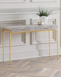 In case the table is put behind a sofa it shouldn't be taller than the rear of the sofa or longer than the sofa. A console table is an excellent and practical bit of furniture. A lovely gold gilt console… Continue Reading → Marble Furniture, Metal Furniture, Furniture Decor, Modern Furniture, Furniture Design, Furniture Movers, Furniture Storage, Handmade Furniture, Rustic Furniture