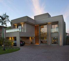 fachada casa moderna sem telhado
