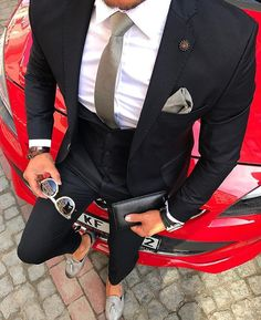 men's fashion suits for business wardrob Best Suits For Men, Cool Suits, Mens Fashion Suits, Mens Suits, Men's Fashion, Fashion Clothes, Stylish Men, Men Casual, Terno Slim
