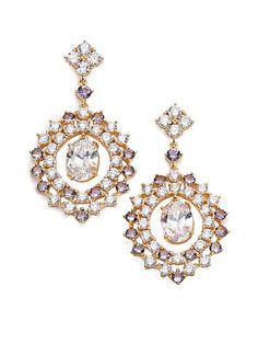 Sweet Embrace Nested Oval Drop Earrings