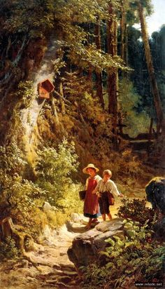 "Photo from album ""Карл Шпицвег"" on Yandex.Disk - - Photo from album ""Карл Шпицвег"" on Yandex. Fantasy Landscape, Landscape Art, Landscape Paintings, Amazing Paintings, Classic Paintings, Old Paintings, Carl Spitzweg, Cottage Art, Landscape Drawings"