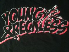 Young & Reckless T Shirt Tee Black Pink White 2X-Large EUC Made in USA #YoungRestless #GraphicTee