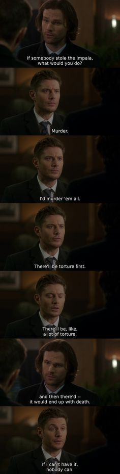 """I cant help but notice... Dean called Baby, """"It""""...."""