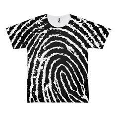Black and White Fingerprint T-Shirt