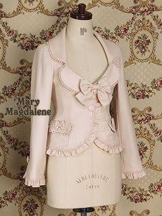 Emmanuel ruffle jacket in rose