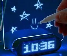 The glowing memo alarm clock is the ultimate nightstand addition. Apart from the alarm and clock combo, this unique model includes a specialized glowing memo...