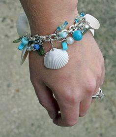 beach bracelet - not a tutorial, but a good idea