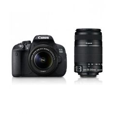 Deals and Offers on Cameras - Canon EOS 700D 18 MP DSLR Camera with 18-55 mm + 55-250 mm Lens