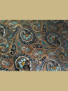 Colorful Peacock Flowers Brocade Fabric