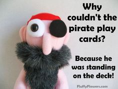 cute & clean kids joke for children featuring and adorable pirate :)