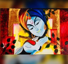 Excited to share this item from my shop: Krishna Radha krishna contemporary modern traditional style painting Indian Art Paintings, Modern Art Paintings, Easy Paintings, Modern Canvas Art, Diy Canvas Art, Krishna Painting, Krishna Art, Basic Painting, Painting Lessons