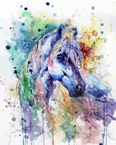 Colorful-Splash-Ink-Horse-Head-HP-Design-Needlepoint-Canvas-E-16