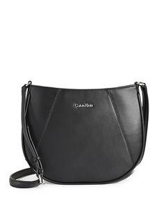 CALVIN KLEIN CALVIN KLEINKey Item Leather Crossbody Bag. #calvinklein #bags #shoulder bags #leather #crossbody #