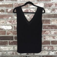 Black V Neck Mesh Top Black v neck top with mesh lining around the front and back v. Can be sexy or chic! You choose! Forever 21 Tops Blouses