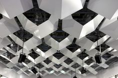 Interlocking ceiling structure by DesignOffice.