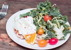 Recipe:  Breakfast Salad with a Pizza Crust Waffle  http://www.thekitchn.com/breakfast-salad-over-a-pizza-crust-waffle-219099?utm_content=buffer4573d&utm_medium=social&utm_source=pinterest.com&utm_campaign=buffer My latest recipe for The Kitchn