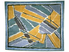 Original Omega Workshops rug design, attributed to Vanessa Bell. Duncan Grant, Vanessa Bell, Bloomsbury Group, Interior Garden, Art Walk, Garden Painting, Fabric Patterns, Surface Design, Workshop