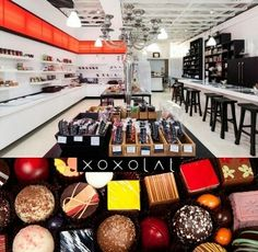 Xoxolat - for the love of chocolate - carefully picks some of the worlds finest chocolate to showcase in their little boutique. - try their chocolate tasting classes can chose regular or with wine pairings! So fun! www.xoxolat.com