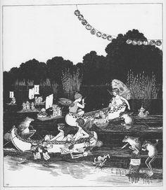 Ida Rentoul Outhwaite 'A Regatta' illustration, 1931 | eBay