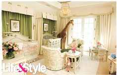 My dream nursery. Cream sage green vintage