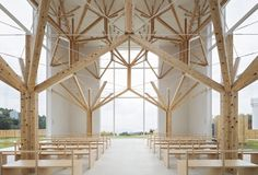 Completed in 2016 in Nagasaki-shi, Japan. Images by Yousuke Harigane. This is a Japanese-wooden chapel with a fractal structure system. The site is surrounded by a large national park overlooking the sea. We tried to...