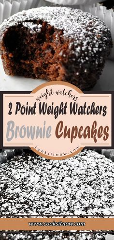 2 Point Weight Watchers Brownie Cupcakes, Satisfy your sweet tooth with these amazing Brownie Cupcakes! Weight Watchers Brownies, Weight Watchers Muffins, Weight Watchers Desserts, Weight Watchers Cupcakes, Brownie Cupcakes, Low Calorie Desserts, Ww Desserts, Diabetic Desserts, Calorie Diet