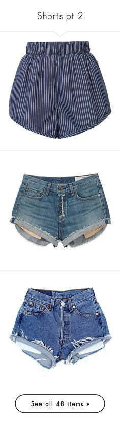 """""""Shorts pt 2"""" by katie-1111 ❤ liked on Polyvore featuring shorts, bottoms, pants, kirna zabete, sale /, elastic waist shorts, cotton shorts, stretch waist shorts, stella mccartney and short shorts"""