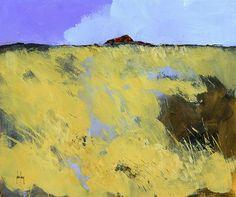 Halb abstrakt original Landschaftsmalerei  rote von PaulBaileyArt, £120.00