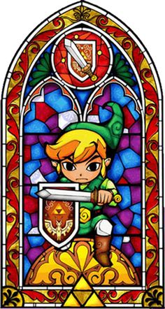 The Legend of Zelda stained glass window