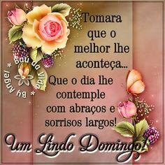 Tomara que o melhor lhe  aconteça...  Que o dia lhe contemple  com abraços e sorrisos largos!   Um Lindo Domingo!           ________ღ☆ღ...