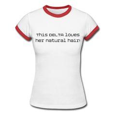 Delta Sigma Theta natural hair tee
