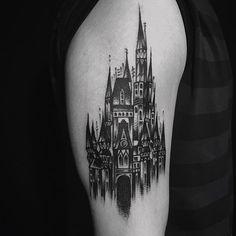 classic tattoo, vintage, oldine blackkkkk castle,서엉