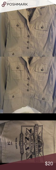 Banana Republic safari jacket Classic Banana Republic Safari jacket. In great condition! Banana Republic Jackets & Coats