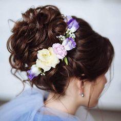 Tonya Pushkareva Long Wedding Hairstyle for Bridal via tonyastylist / http://www.himisspuff.com/long-wedding-hairstyle-ideas-from-tonya-pushkareva/12/