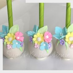 Cake Pops Birthday Desserts 46 New Ideas Birthday Cake Pops, Fairy Birthday Party, Birthday Desserts, Wedding Desserts, Wedding Cakes, Cake Pop Decorating, Cake Decorating For Beginners, Flower Cake Pops, Flower Cupcakes